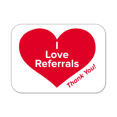 "Picture of ""I Love Referrals"" Labels"