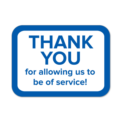 """Picture of """"Thank You"""" Labels"""