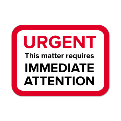 "Picture of ""Urgent"" Labels"