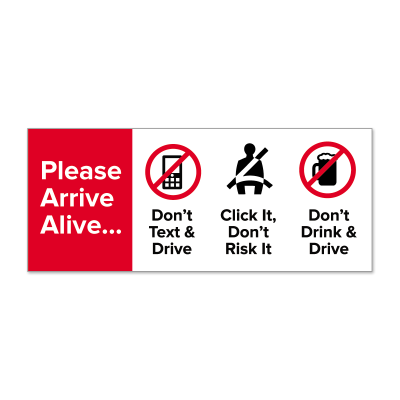 "Picture of ""Please Arrive Alive"" Stickers"