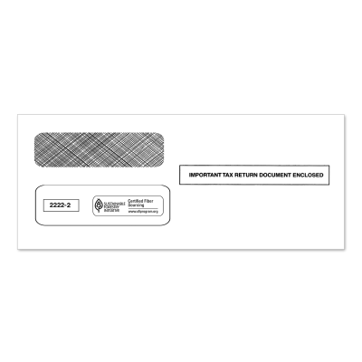 Picture of 3-Up 1099 Double Window Envelope (2222)