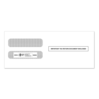 Picture of 3-Up W-2 Double Window Envelope (3333)