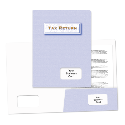 Picture of Success Tax Return Folders (Light Blue)