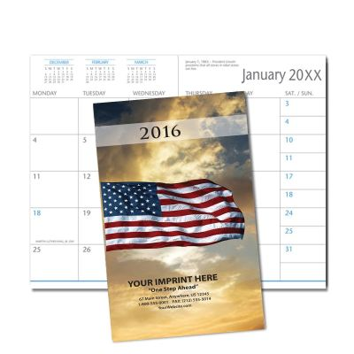 Picture of American Flag Monthly Pocket Planner (CB04)