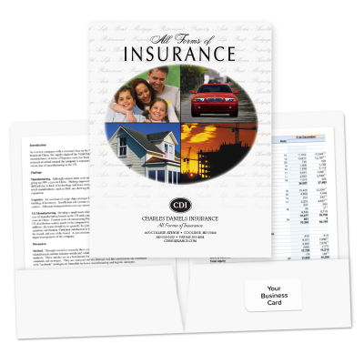 Picture of Pre-Designed Insurance Folders (Oval)