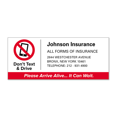 Picture of Don't Text And Drive Policy Labels