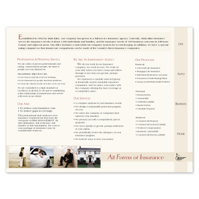 Picture of Agency Capabilities Brochure Style 506