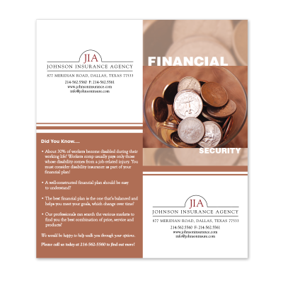 Picture of Financial Insurance Cross-Sell Brochure