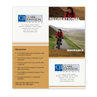 Picture of Recreational Insurance Cross-Sell Brochure