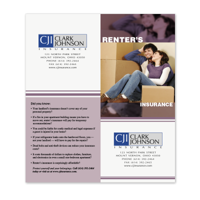 Picture of Renters Insurance Cross-Sell Brochure
