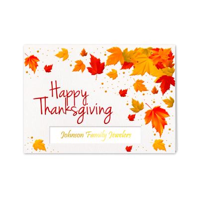 Picture of Bright Thanksgiving Leaves Greeting Card