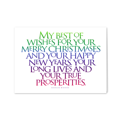 Picture of Charles Dickens Christmas Verse Greeting Card