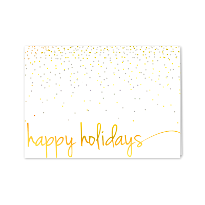 Picture of Confetti Happy Holidays Greeting Card