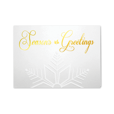 Picture of Gold Embossed Snowflake Greeting Card