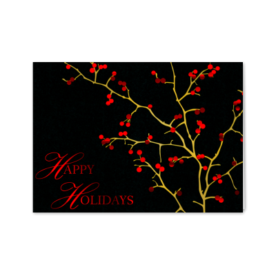 Picture of Red Berries Greeting Card