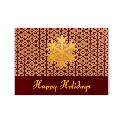 Picture of Gold Snowflake Greeting Card
