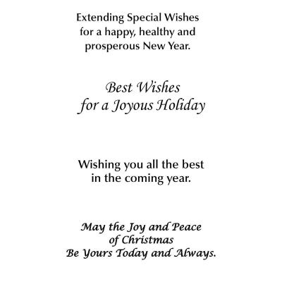 Picture of Hope Peace Joy Cheer Greeting Card