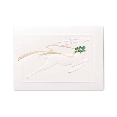 Picture of Reindeer with Ribbon Greeting Card