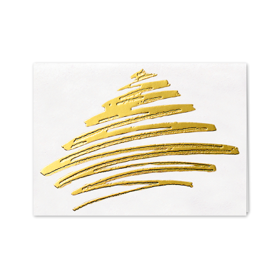 Picture of Contemporary Ribbon Tree Greeting Card