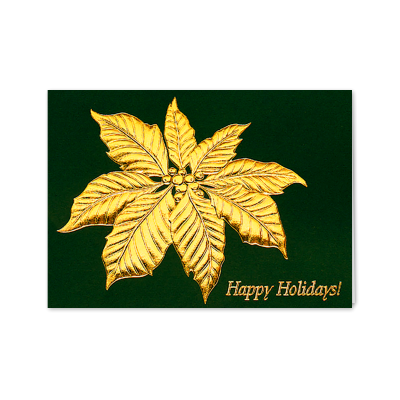 Picture of Poinsettia Leaf Greeting Card