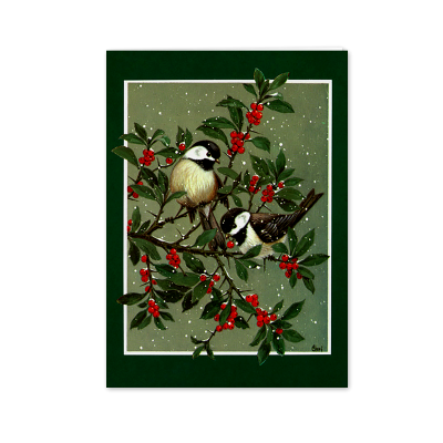Picture of Birds on Berry Tree Greeting Card