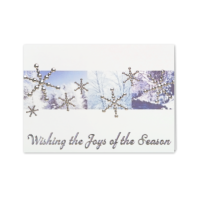 Picture of Silver Snowflakes in Forest Greeting Card