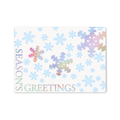 Picture of Holographic Snowflakes Greeting Card