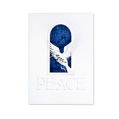 Picture of Peace Dove in Window Greeting Card