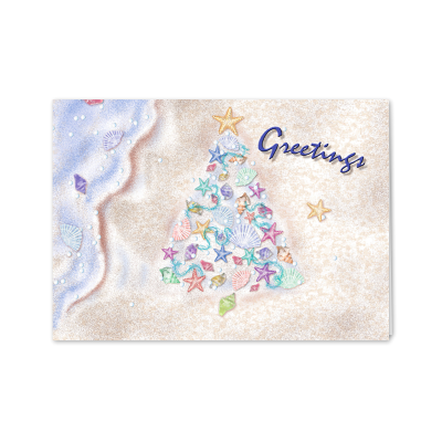 Picture of Sea Shells on Beach Greeting Card