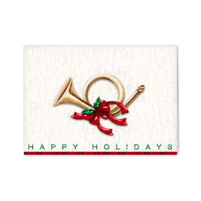 Picture of Holiday French Horn Greeting Card