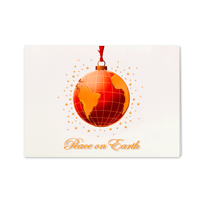 Picture of Peace on Earth Globe Ornament Greeting Card