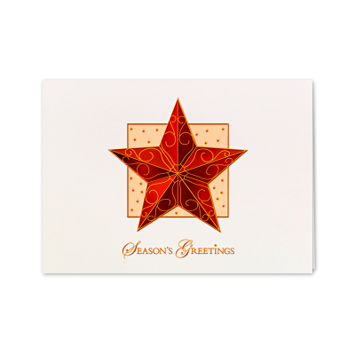 Picture of Raised Relief Ornament Star Greeting Card