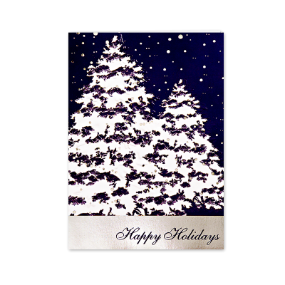 Picture of Snow Covered Trees Greeting Card