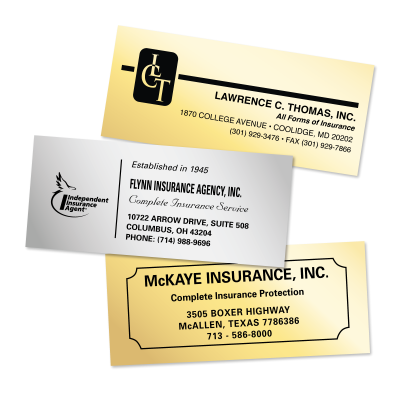 Picture of Foil Insurance Policy Labels