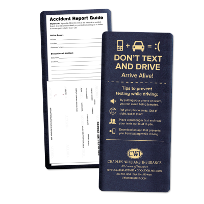 "Picture of ""Don't Text & Drive"" Insurance Card Holder Kits"