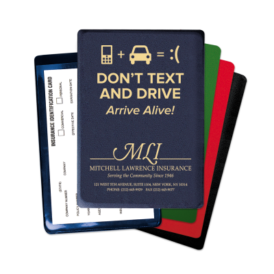"Picture of ""Don't Text & Drive"" Insurance Card Holders"