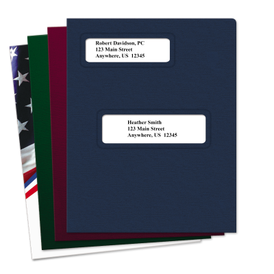 Picture of Offset Small Window Tax Software Folders