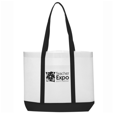Picture of Non Woven Tote Bag with Trim Colors - 18 x 14 x 3.5