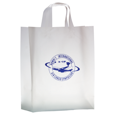 Picture of Clear Frosted Shopper Bag - 13 x 16 x 5