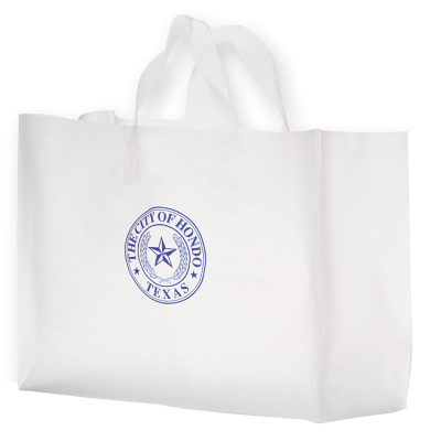 Picture of Clear Frosted Shopper Bag - 16 x 12 x 6