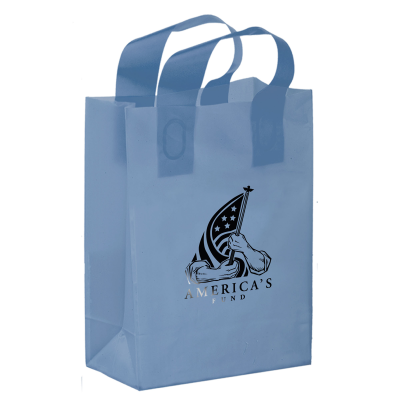 Picture of Colored Frosted Shopper Bag - 8 x 11 x 4