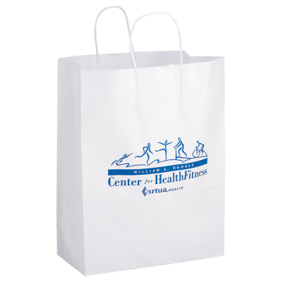 Picture of White Kraft Shopper Bag - 13 x 17 x 7