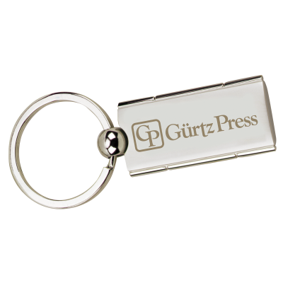 Picture of Satin Rectangle Swivel Key Tag