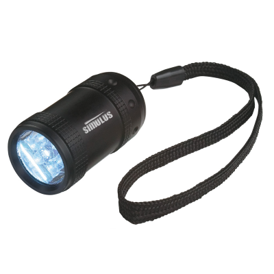 Picture of Aluminum Small Stubby LED Flashlight With Strap
