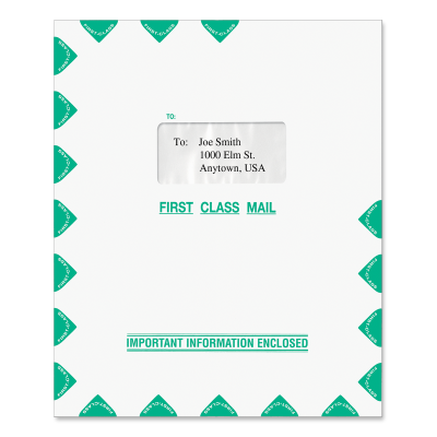 Picture of 9.5 x 11.5 Single Window Tax Software Envelope