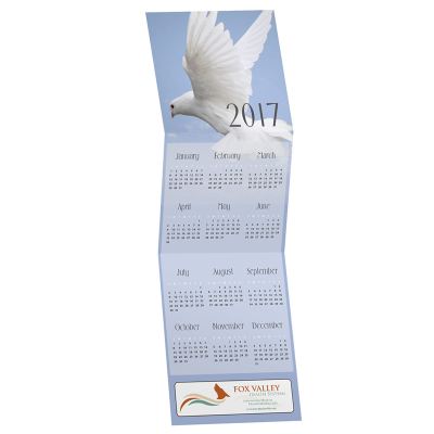 Picture of Dove Tri-Fold Greeting Card Calendar
