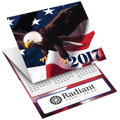 Picture of Eagle Tri-Fold Greeting Card Calendar