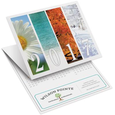 Picture of Seasons Tri-Fold Greeting Card Calendar