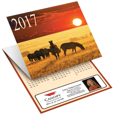 Picture of Wildlife Tri-Fold Greeting Card Calendar