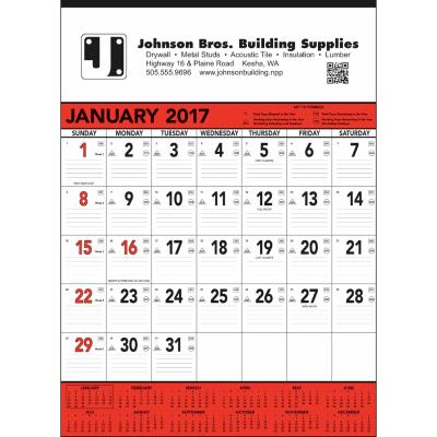 Picture of Contractor's Memo Wall Calendar